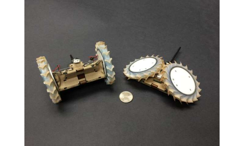 Origami-inspired robot can hitch a ride with a rover