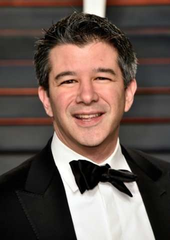 Ousted Uber CEO Travis Kalanick—here at a 2016 Oscar party—retains a seat on the company board of directors