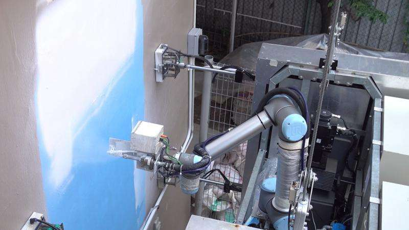 OutoBot, an innovative robot to wash and paint high-rise buildings