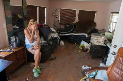 Patty Purdo returned to a scene of desolation at her home in a trailer park in Islamorada, which was badly hit when Hurricane Ir