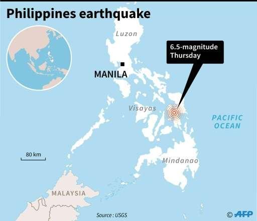 Latest Philippine News Update: 6.5-magnitude Quake Hits Central Philippine Island: USGS