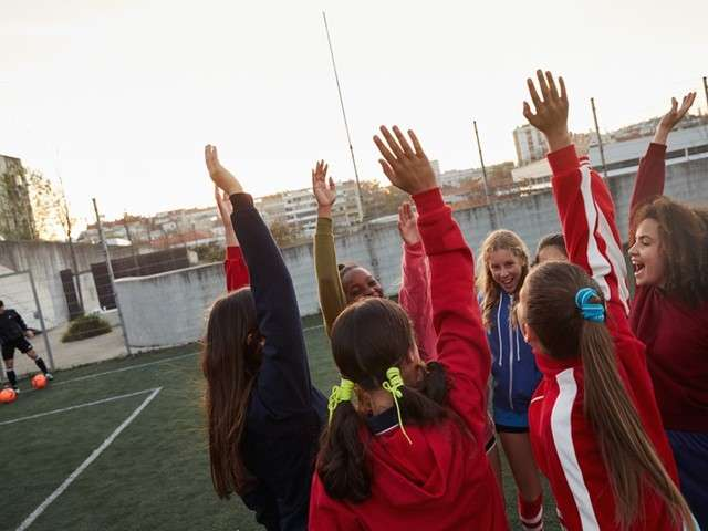 Playing football boosts girls' confidence, study finds