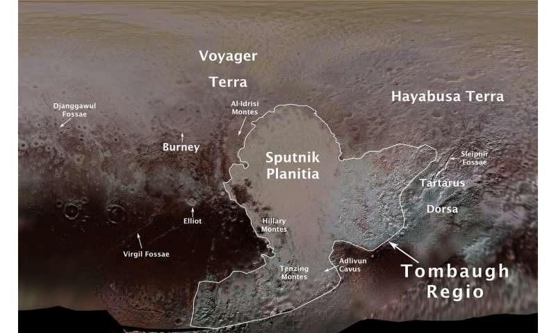 Pluto features given first official names