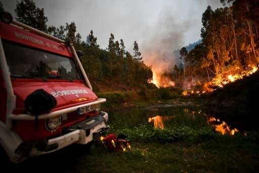 Portuguese President Marcelo Rebelo praised the work of firefighters in tackling the deadly forest fires