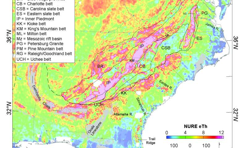 Earth Element Mineral Potential In The Southeastern US Coastal Plain - Coastal plains on us map