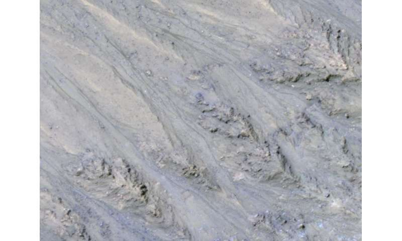 Recurring martian streaks: flowing sand, not water?