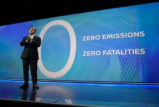 Renault-Nissan chief Carlos Ghosn said the group would adopt an autonomous driving system which keeps a human in the loop if som