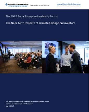 Report documents the near-term impacts of climate change on investors