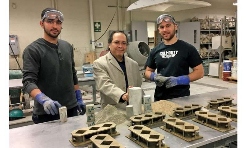 Researcher tests fly ash for stronger concrete