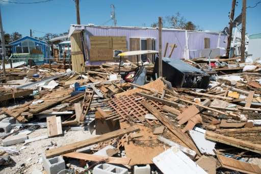 Residents estimate that Irma destroyed three-quarters of homes at the  Seabreeze Trailer Park in Islamorada, in the Florida Keys