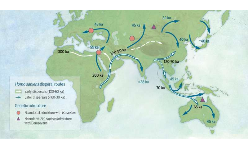 Revising the story of the dispersal of modern humans across Eurasia