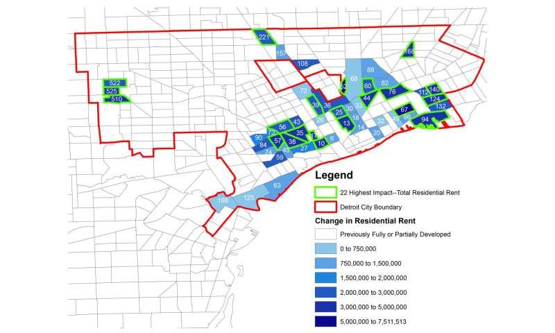 on detroit neighborhoods map