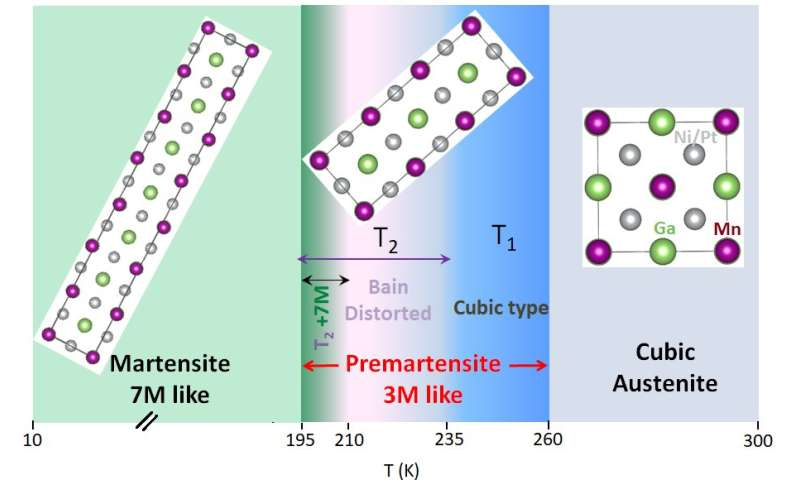 Robust Bain distortion in the premartensite phase of a platinum-substituted Ni2MnGa