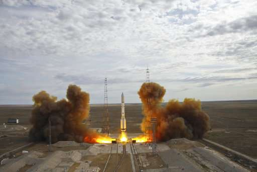 Russian booster rocket puts US satellite in orbit