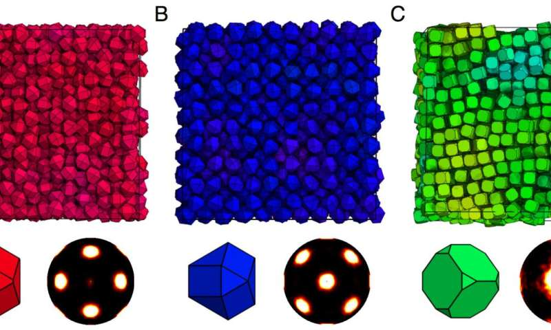 Sample self-assembled colloidal crystals