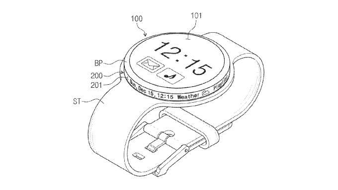 Samsung patent application explores watch rim for second display