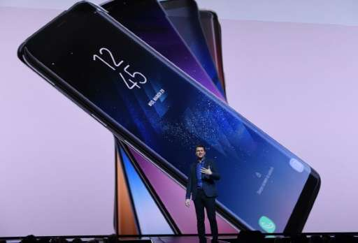 Samsung's top-line new handsets, the Galaxy S8 and S8+, were introduced in New York by Justin Denison, senior vice president of