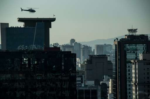Sao Paulo, which sits in a state of the same name and has a population that exceeds 45 million, has the biggest fleet of helicop