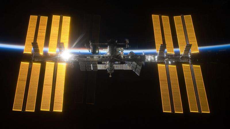 Setting sun on space station solar research