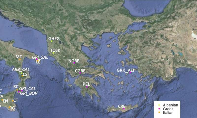 Shared genetic heritage from Sicily to Cyprus