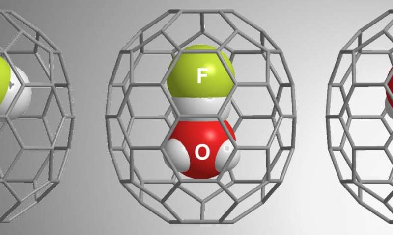 Simplest hydrated acid within C70 fullerene