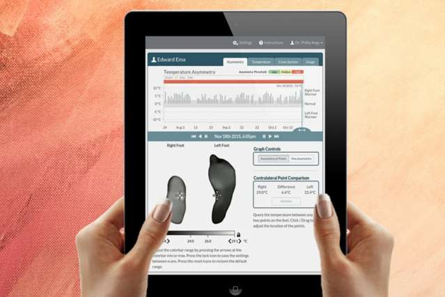 Smart mat detects early warning signs of foot ulcers