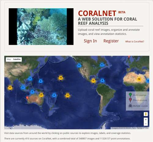 Software system labels coral reef images in record time