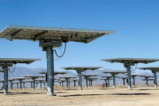 Solar panels in Hami, northwest China's Xinjiang Uygur Autonomous Region