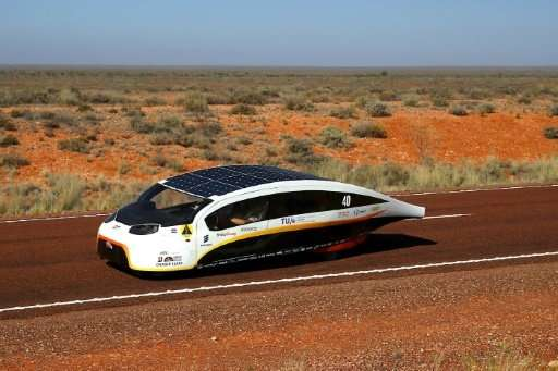 "Solar Team Eindhoven's ""Stella Vie"" was hailed as the future of sun-powered motoring as the 3,000-kilometre World Sola"