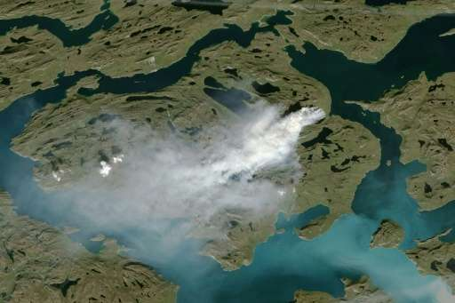 Some wildfires in western Greenland have been burning since the end of July