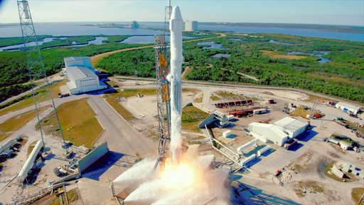 SpaceX 1st: Recycled rocket soars with recycled capsule