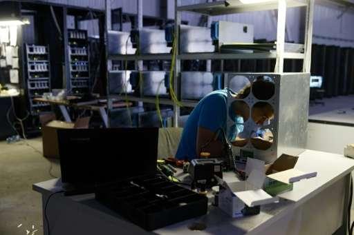 Stacks of computing power gives bitcoin miners a shot at harvesting crypto currencies