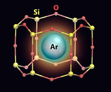 Studying argon gas trapped in two-dimensional array of tiny 'cages'