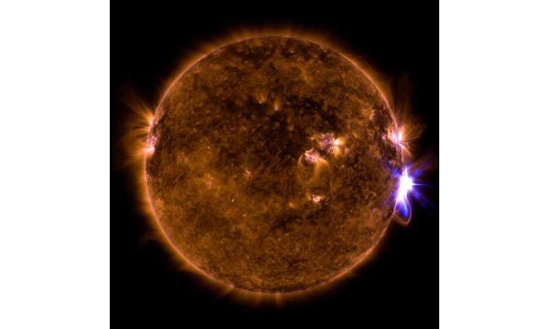 Sun erupts with significant flare