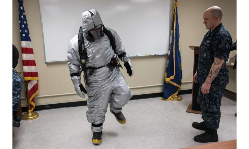 Taking the heat: Navy tests new submarine steam suits