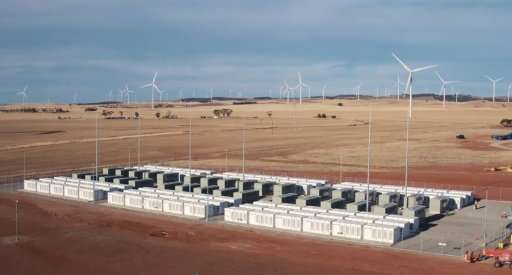 Tesla 100 MW/129 MWh Powerpack system by billionaire entrepreneur Elon Musk is connected to a wind farm operated by French energ