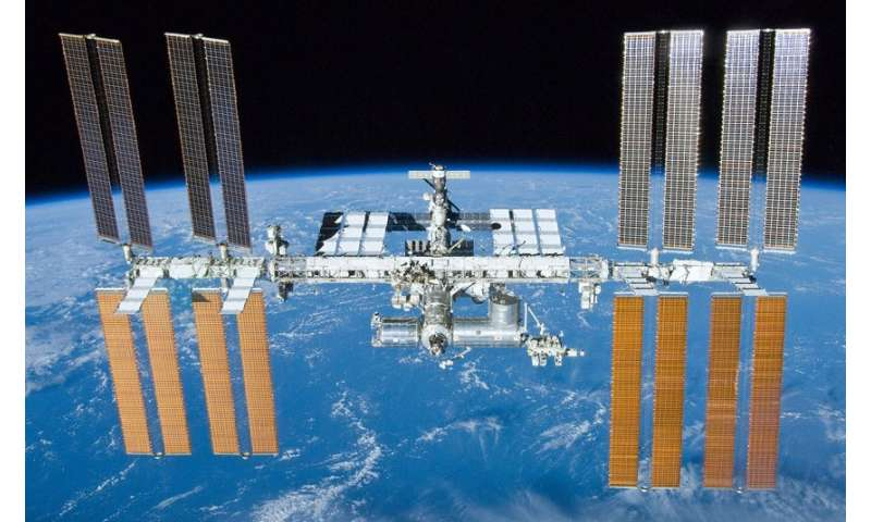 The bacterial community on the International Space Station resembles homes