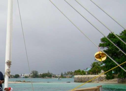 The beach at Majuro in the Marshall Islands