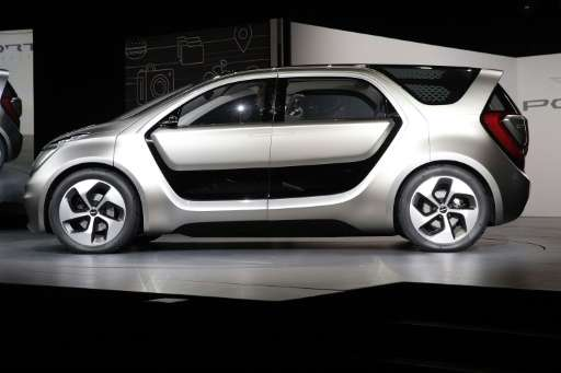 """The company said the Chrysler Portal concept car, seen January 2, 2017, can be used in """"semi-autonomous operation,"""" wh"""