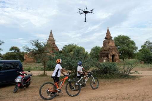 The data recorded by drones allows those with virtual reality headsets to explore Myanmar's temples, their crumbling centuries-o