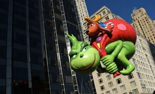 The Dr. Seuss Grinch and Max balloon during the 91st Annual Macy's Thanksgiving Day Parade. Researchers say automated programs o