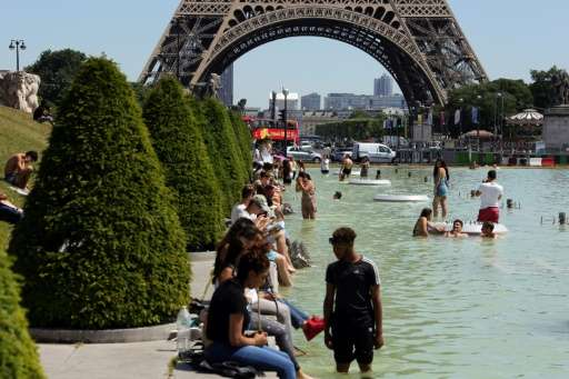 The French capital has been placed on heatwave alert