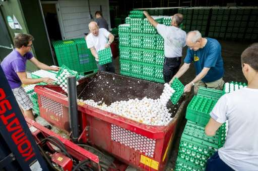 The insecticide scandal became public on August 1 when authorities in the Netherlands ordered eggs pulled from supermarket shelv
