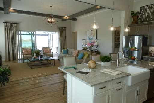 The interior of a model home at Florida's eco-friendly community of Babcock Ranch, which includes a solar farm and the latest in