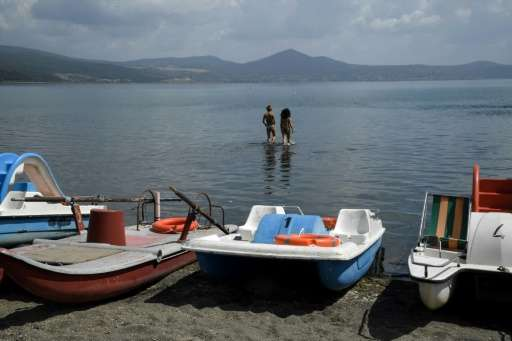 The Italian authorities have decided to stop withdrawing water from Lake Bracciano near Rome because it had dropped to such a lo