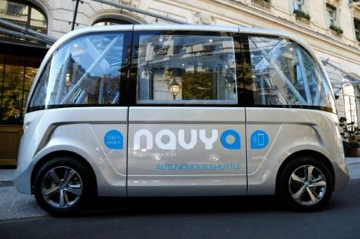 The Navya program will last a week, and was touted as the first time a fully autonomous, electric powered shuttle was left to it