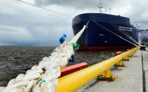 "The new Russian ""Christophe de Margerie"" Arctic LNG tanker is to carry the first shipment from the Yamal LNG terminal."