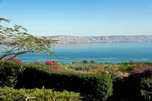 The northwestern shore of the Sea of Galilee, pictured in September 2016