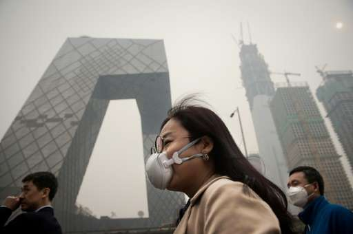 "The number of days with ""severe haze"" in northern China has jumped in recent years"
