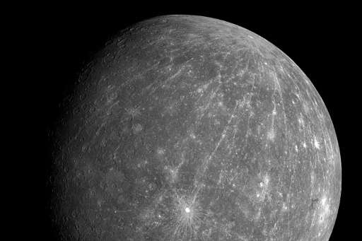 The planet Mercury orbits just 58 million kilometres (36 million miles) from the Sun, and its surface is blasted by radiation le